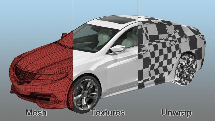 Sport Sedan Generic royalty-free 3d model - Preview no. 18