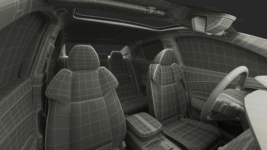Sport Sedan Generic royalty-free 3d model - Preview no. 32
