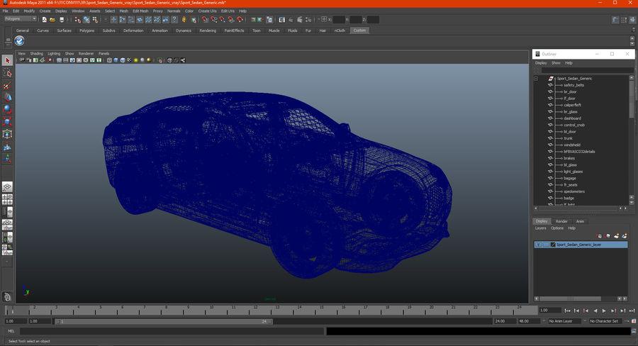 Sport Sedan Generic royalty-free 3d model - Preview no. 26