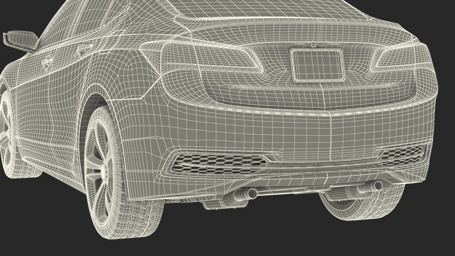 Sport Sedan Generic royalty-free 3d model - Preview no. 35