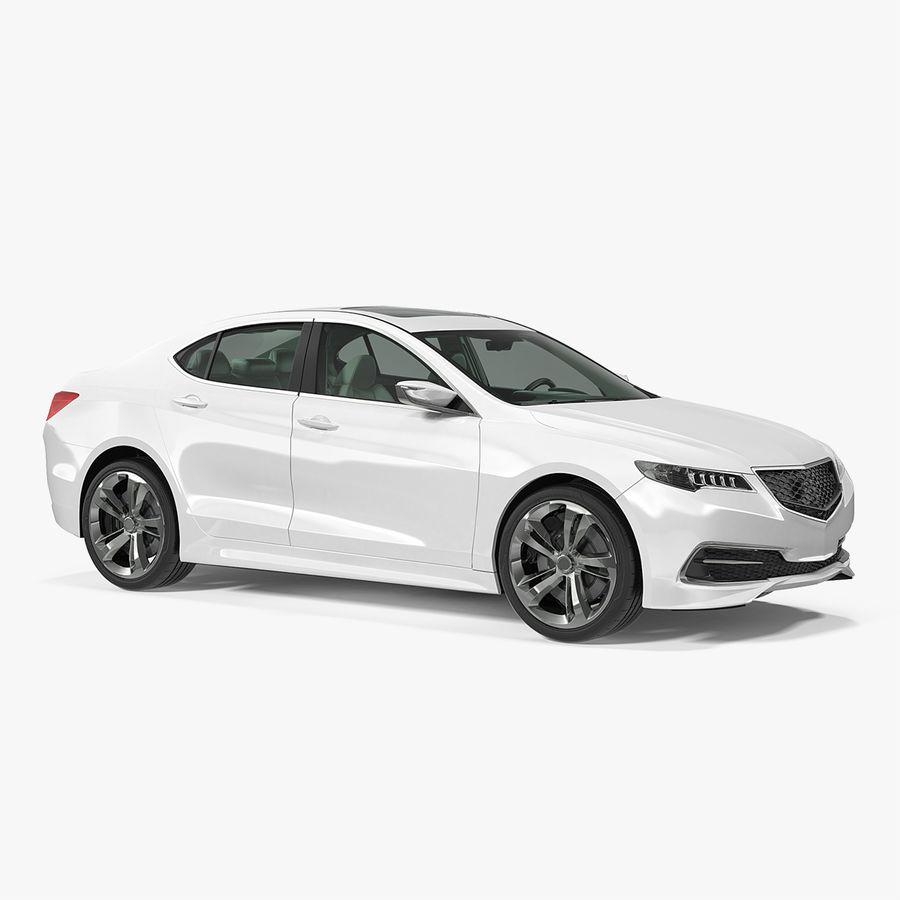 Sport Sedan Generic royalty-free 3d model - Preview no. 1