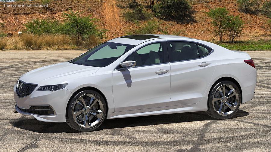 Sport Sedan Generic royalty-free 3d model - Preview no. 4
