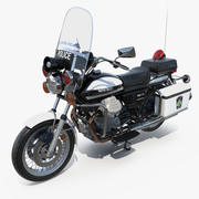 Moto Guzzi 850 T3 Polizeirad 3d model