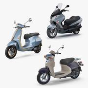 스쿠터 오토바이 컬렉션 2 3d model