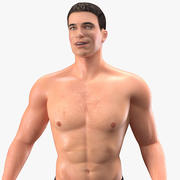 Athletic Man Rigged para Cinema 4D 3d model