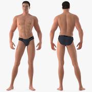 Uomo atletico attrezzato per Maya 3d model