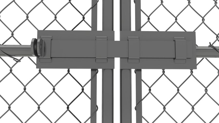 Fences Gate Door royalty-free 3d model - Preview no. 88