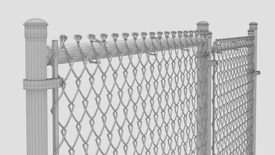 Fences Gate Door royalty-free 3d model - Preview no. 118