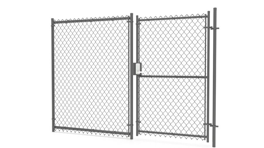 Fences Gate Door royalty-free 3d model - Preview no. 106
