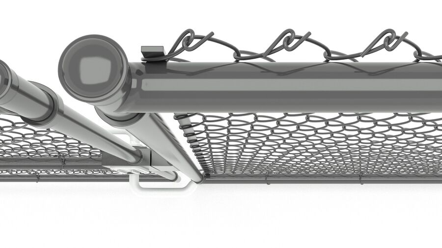 Fences Gate Door royalty-free 3d model - Preview no. 105