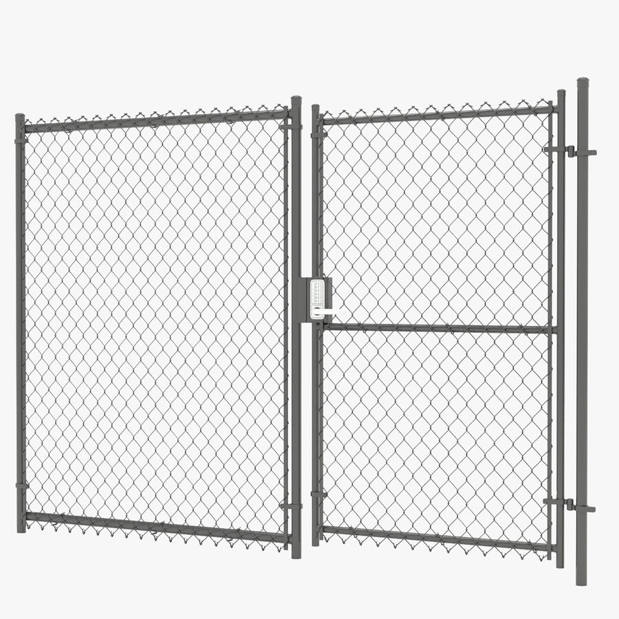 Fences Gate Door royalty-free 3d model - Preview no. 101