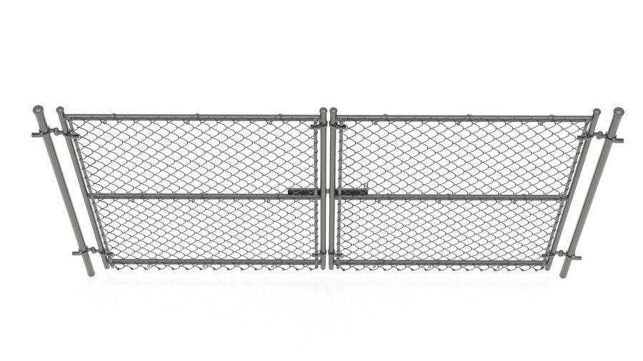 Fences Gate Door royalty-free 3d model - Preview no. 87