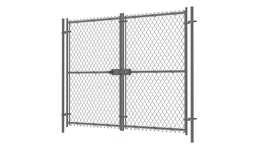 Fences Gate Door royalty-free 3d model - Preview no. 84