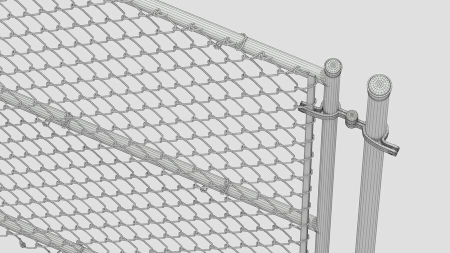 Fences Gate Door royalty-free 3d model - Preview no. 99