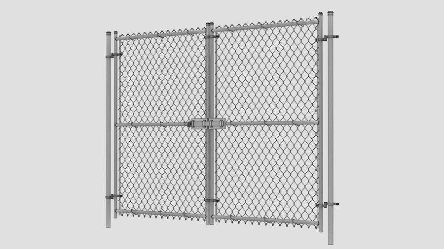 Fences Gate Door royalty-free 3d model - Preview no. 94