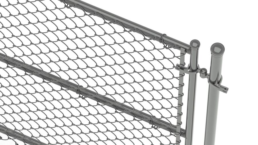 Fences Gate Door royalty-free 3d model - Preview no. 110