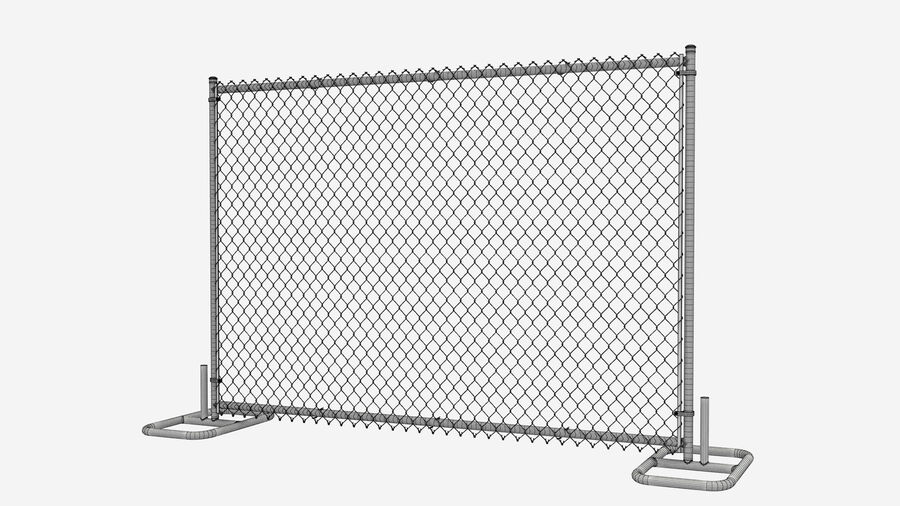 Fences Gate Door royalty-free 3d model - Preview no. 77