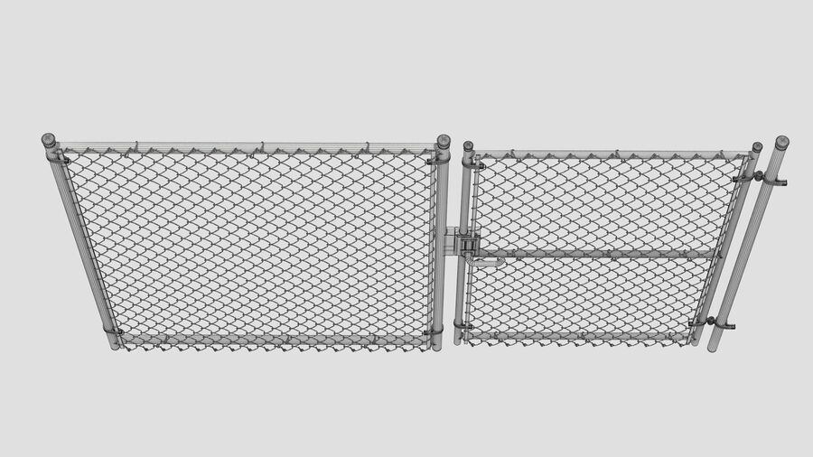 Fences Gate Door royalty-free 3d model - Preview no. 116