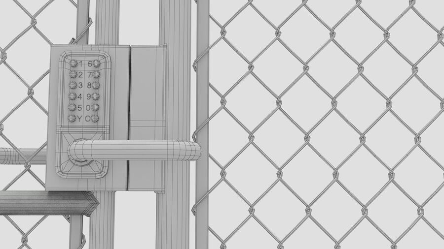 Fences Gate Door royalty-free 3d model - Preview no. 117