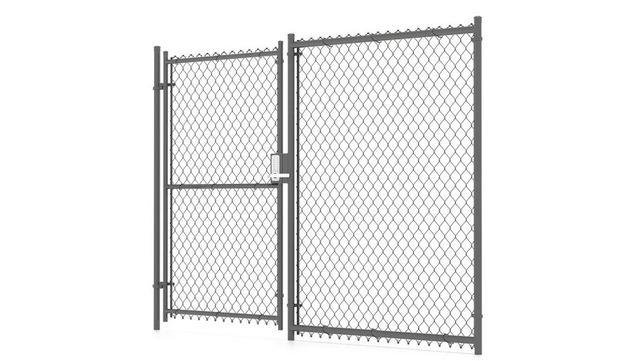Fences Gate Door royalty-free 3d model - Preview no. 104