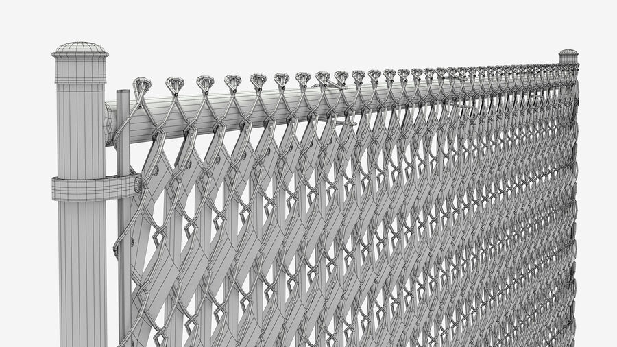 Fences Gate Door royalty-free 3d model - Preview no. 61