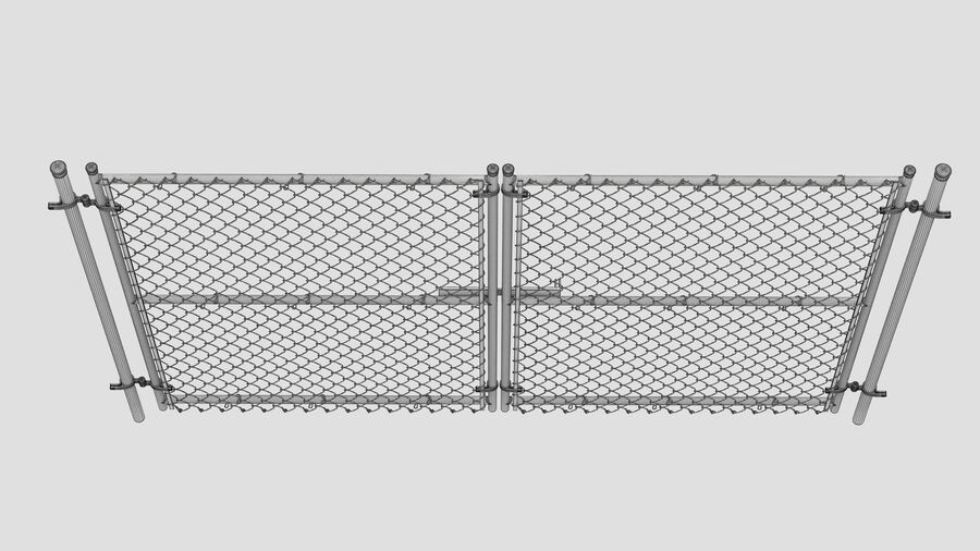 Fences Gate Door royalty-free 3d model - Preview no. 96