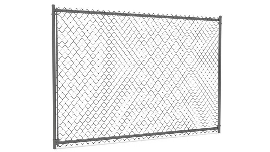 Fences Gate Door royalty-free 3d model - Preview no. 13
