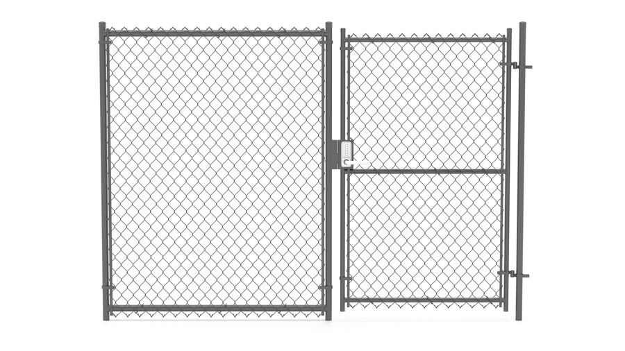 Fences Gate Door royalty-free 3d model - Preview no. 102
