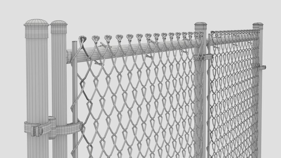 Fences Gate Door royalty-free 3d model - Preview no. 98