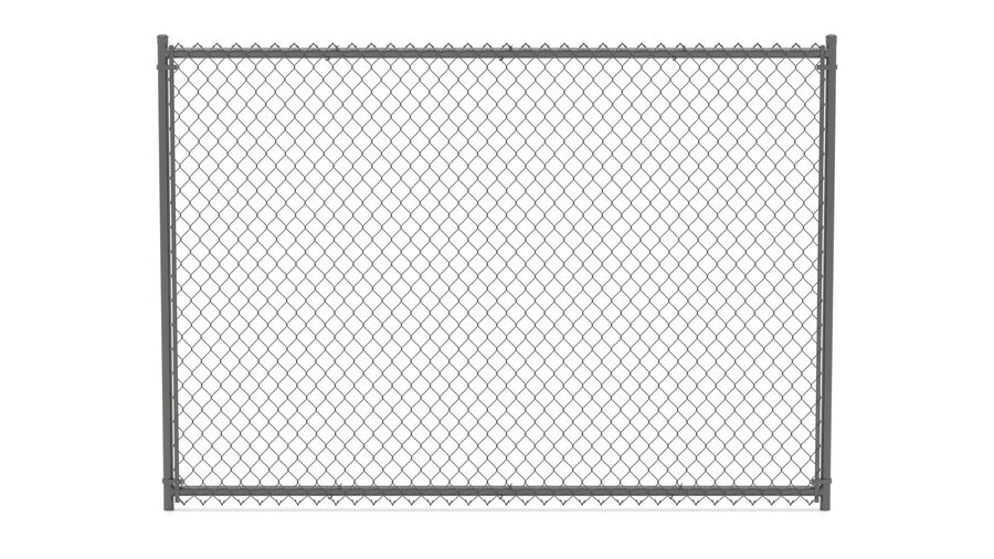 Fences Gate Door royalty-free 3d model - Preview no. 3