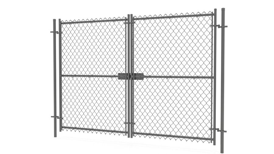 Fences Gate Door royalty-free 3d model - Preview no. 86