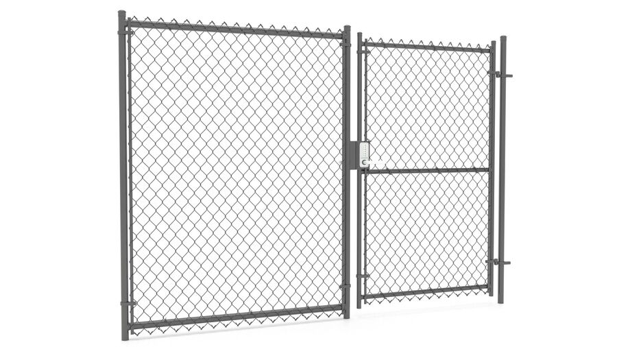 Fences Gate Door royalty-free 3d model - Preview no. 112