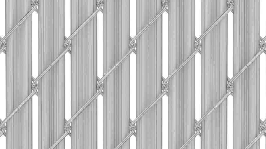 Fences Gate Door royalty-free 3d model - Preview no. 42