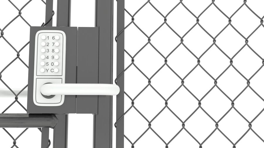 Fences Gate Door royalty-free 3d model - Preview no. 108