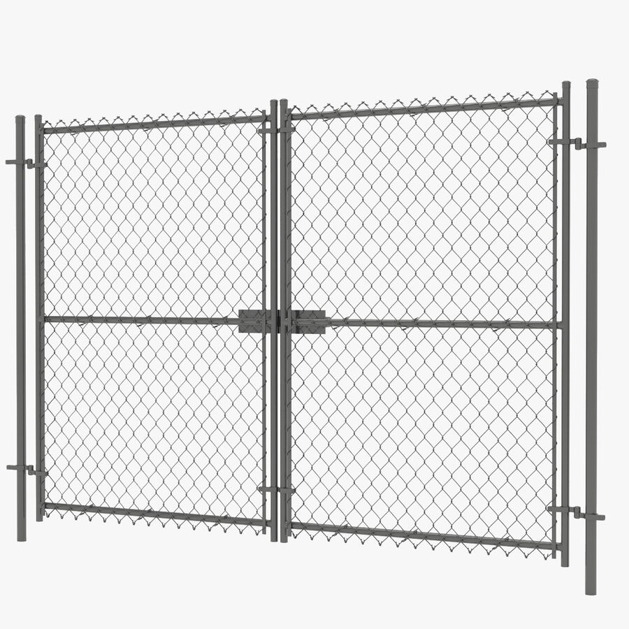 Fences Gate Door royalty-free 3d model - Preview no. 81