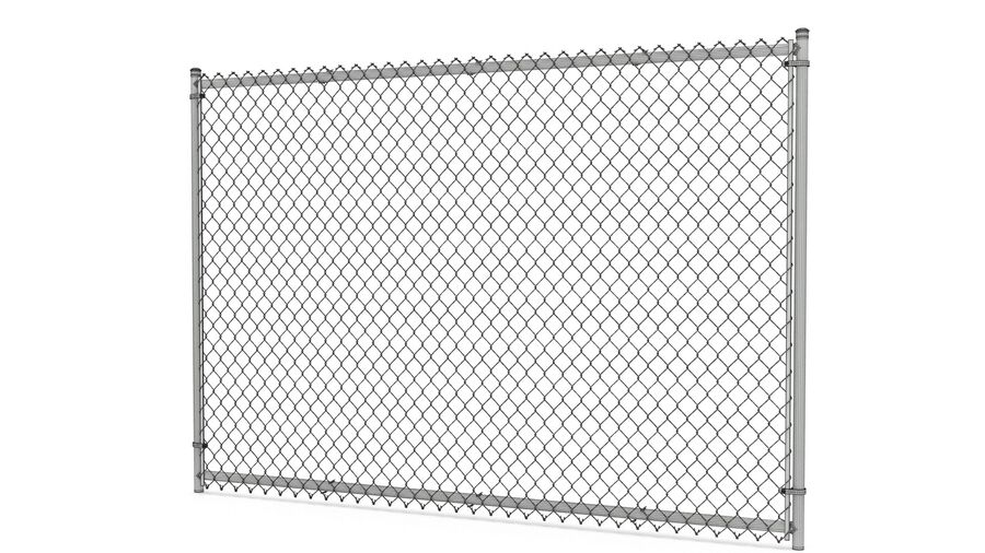 Fences Gate Door royalty-free 3d model - Preview no. 17