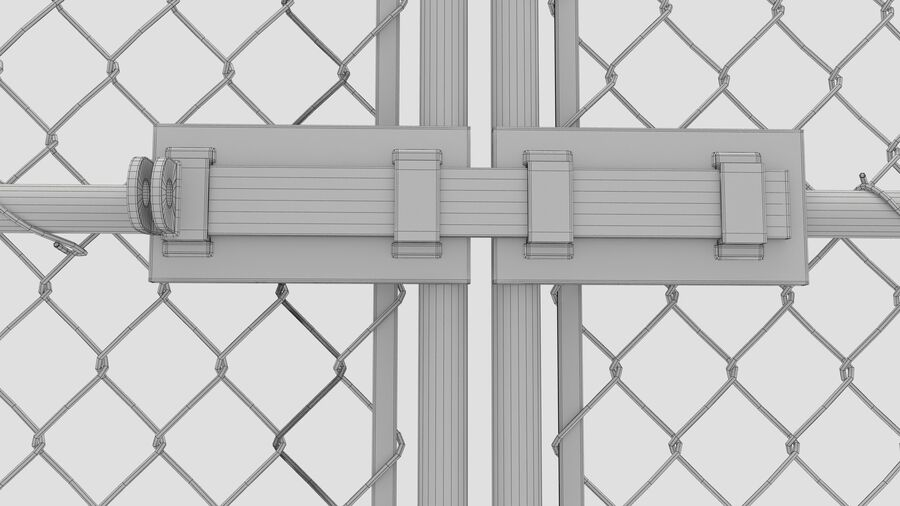 Fences Gate Door royalty-free 3d model - Preview no. 97