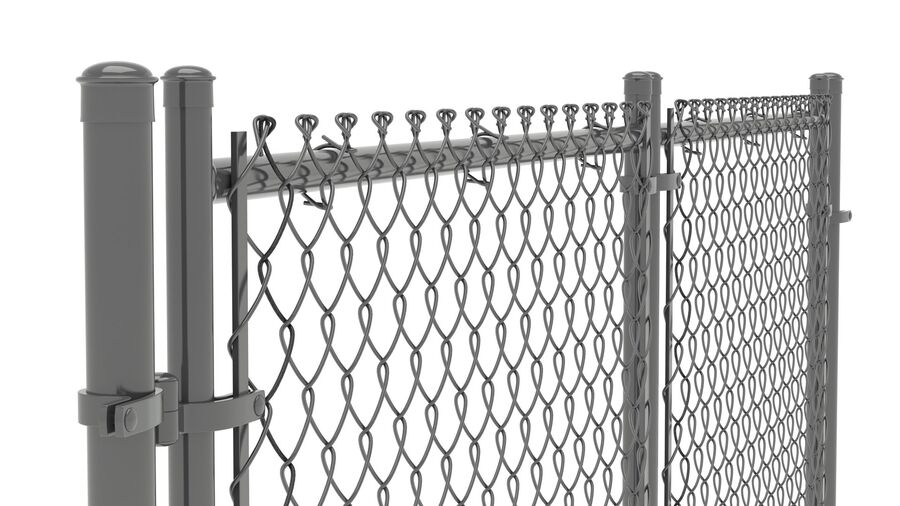 Fences Gate Door royalty-free 3d model - Preview no. 89