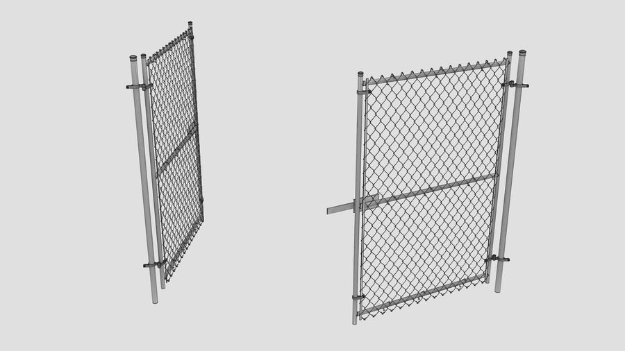Fences Gate Door royalty-free 3d model - Preview no. 100