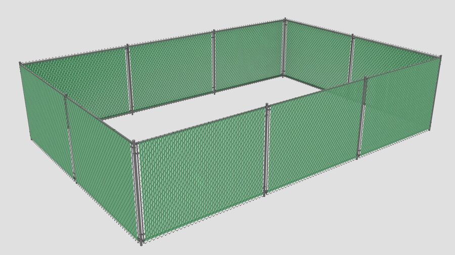 Fences Gate Door royalty-free 3d model - Preview no. 35