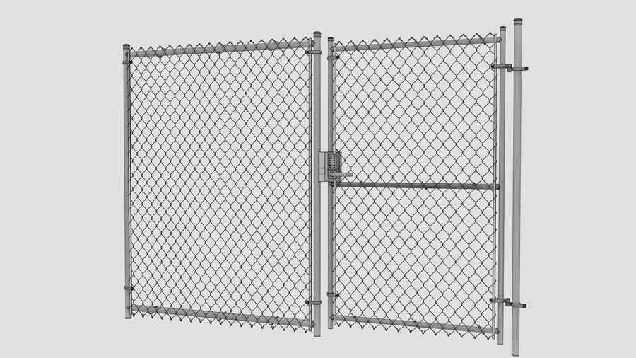Fences Gate Door royalty-free 3d model - Preview no. 115