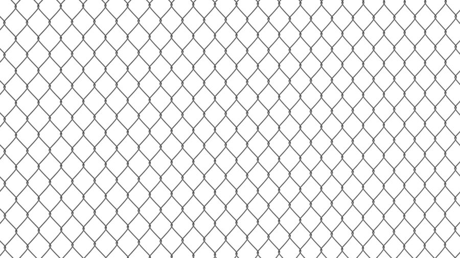 Fences Gate Door royalty-free 3d model - Preview no. 11