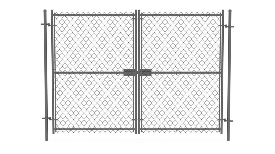 Fences Gate Door royalty-free 3d model - Preview no. 82