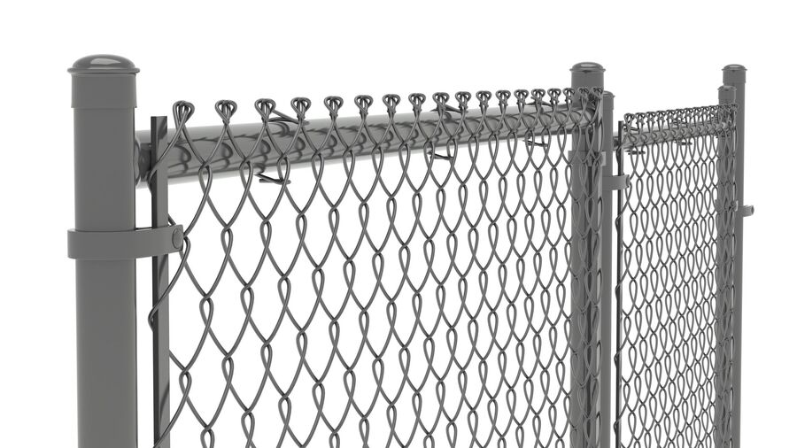 Fences Gate Door royalty-free 3d model - Preview no. 109