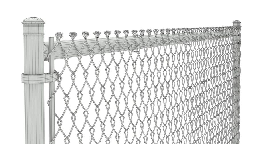 Fences Gate Door royalty-free 3d model - Preview no. 20