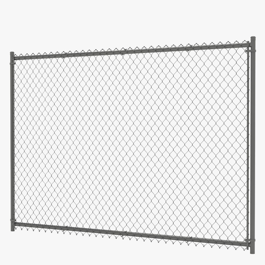 Fences Gate Door royalty-free 3d model - Preview no. 2