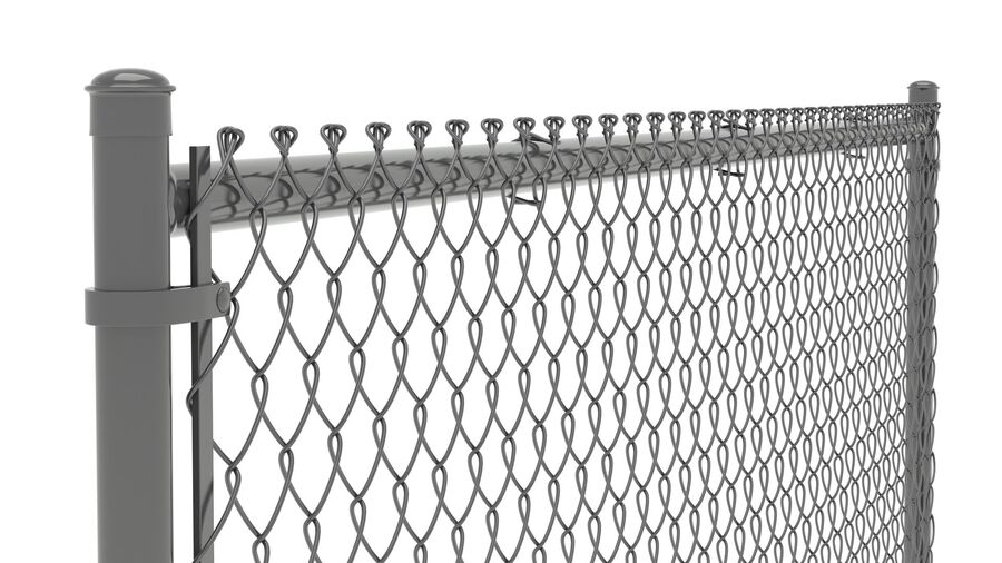 Fences Gate Door royalty-free 3d model - Preview no. 10