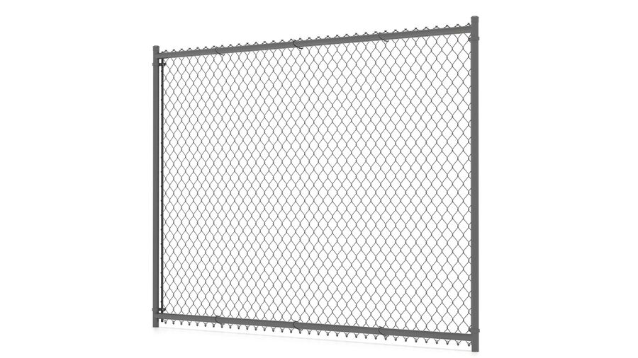 Fences Gate Door royalty-free 3d model - Preview no. 5