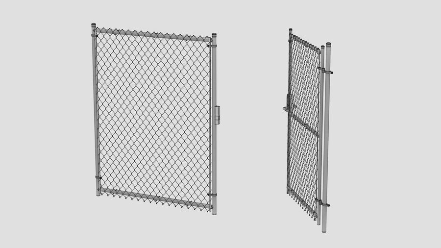 Fences Gate Door royalty-free 3d model - Preview no. 120