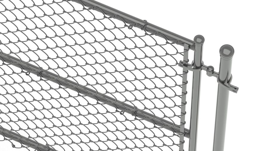 Fences Gate Door royalty-free 3d model - Preview no. 90